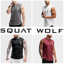 SQUAT WOLF Street Style Plain Tanks