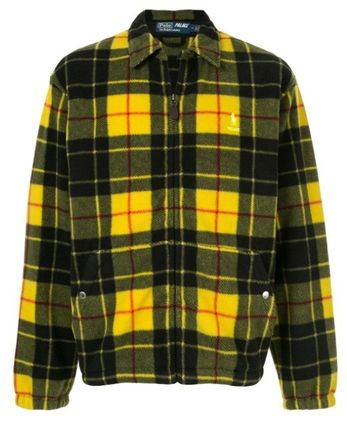 Other Plaid Patterns Street Style Collaboration Logo Jackets