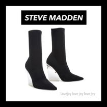 Steve Madden Casual Style Blended Fabrics Plain Wedge Boots