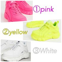 Buffalo LONDON Platform Lace-up Casual Style Neon Color
