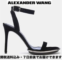 Alexander Wang Open Toe Suede Plain Pin Heels Party Style Heeled Sandals