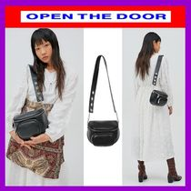 OPEN THE DOOR Casual Style Unisex Street Style Plain Shoulder Bags