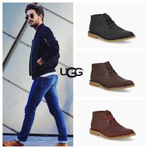 UGG Australia Blended Fabrics Bi-color Plain Leather Bold Chukkas Boots