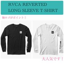 RVCA Crew Neck Street Style Long Sleeves Plain Cotton