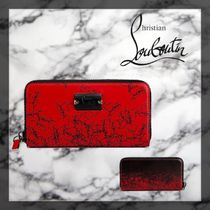 Christian Louboutin Panettone  Unisex Blended Fabrics Long Wallets