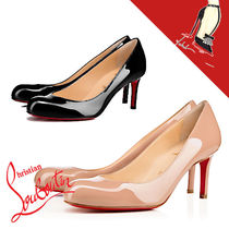 Christian Louboutin Round Toe Casual Style Office Style High Heel Pumps & Mules