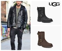 UGG Australia Plain Leather Engineer Boots