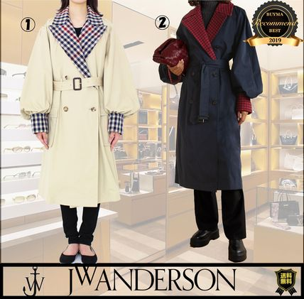 Other Plaid Patterns Casual Style Plain Long Office Style