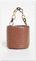 lizzie fortunato 2WAY Chain Plain Leather Elegant Style Crossbody