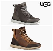 UGG Australia Mountain Boots Suede Blended Fabrics Bi-color Plain Leather