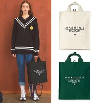 MSKN2ND Casual Style Unisex Canvas Street Style Collaboration A4