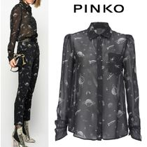 PINKO Casual Style Long Sleeves Medium Office Style