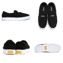 NATIONAL GEOGRAPHIC Casual Style Plain Shearling Logo Low-Top Sneakers