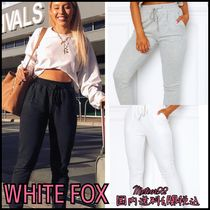 WHITE FOX Casual Style Sweat Street Style Plain Sweatpants