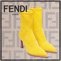 FENDI Flower Patterns Ankle & Booties Boots