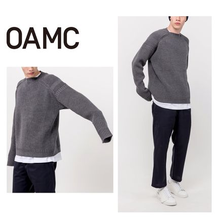 OAMC Sweaters Pullovers Wool Long Sleeves Plain Logo Designers Sweaters