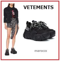 VETEMENTS Platform Round Toe Casual Style Suede Street Style