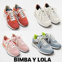 bimba & lola Rubber Sole Casual Style Suede Low-Top Sneakers