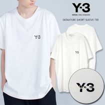 Y-3 Crew Neck Unisex Street Style Plain Cotton Short Sleeves