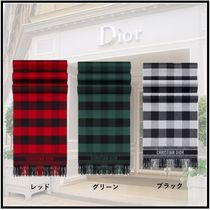 "Christian Dior 2019-20AW ""CHECK'N DIOR"" STOLE 3colors more scarves"