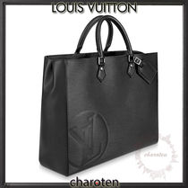 Louis Vuitton EPI Unisex Calfskin Blended Fabrics Street Style A4 2WAY Plain