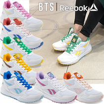 Reebok Platform Round Toe Casual Style Unisex Faux Fur