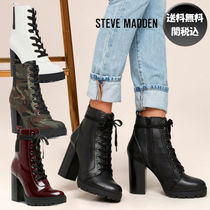 Steve Madden Camouflage Platform Round Toe Lace-up Casual Style