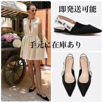 Christian Dior JADIOR Casual Style Plain Office Style Elegant Style Slip-On Shoes