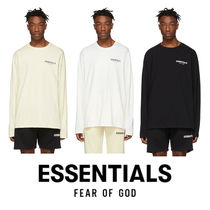FEAR OF GOD ESSENTIALS Crew Neck Pullovers Unisex Street Style Long Sleeves Plain