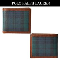 POLO RALPH LAUREN Other Check Patterns Faux Fur Folding Wallets