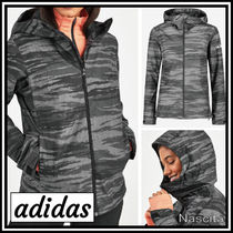 adidas Camouflage Casual Style Street Style Medium Outerwear