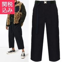sacai Plain Cotton Cropped Pants