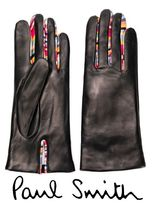 Paul Smith Stripes Leather Leather & Faux Leather Gloves