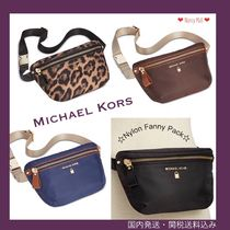 Michael Kors Leopard Patterns Casual Style Street Style Plain