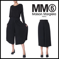 MM6 Maison Margiela Pleated Skirts Plain Long Cropped & Capris Pants