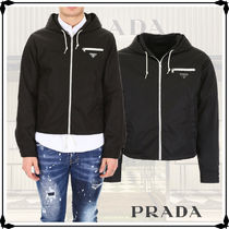 PRADA Short Nylon Plain Jackets