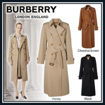 Burberry Other Check Patterns Unisex Plain Long Party Style