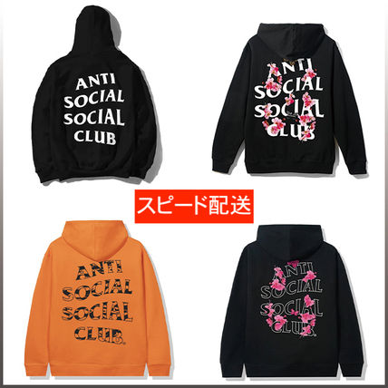 ANTI SOCIAL SOCIAL CLUB Unisex Sweat Street Style Logo Hoodies