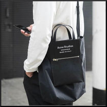 Acne Baker out Casual Style Unisex 2WAY Plain Totes
