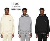 FEAR OF GOD ESSENTIALS Pullovers Unisex Street Style Long Sleeves Cotton Hoodies