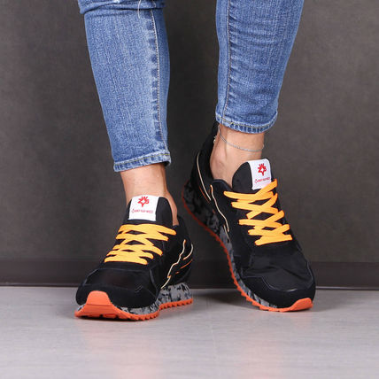 Blended Fabrics Street Style Logo Sneakers