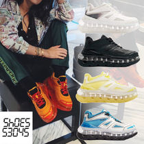 SHOES 53045 Casual Style Unisex Street Style Dad Sneakers Logo