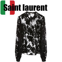 Saint Laurent Long Sleeves Party Style Elegant Style Shirts & Blouses