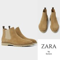 ZARA Plain Leather Chelsea Boots Chelsea Boots