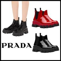 PRADA Rubber Sole Casual Style Plain Block Heels