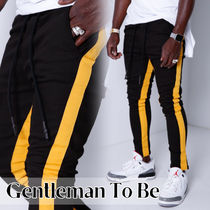 Gentleman To Be Stripes Street Style Cotton Joggers Jeans & Denim
