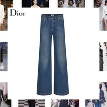 Christian Dior Denim Cotton Long Wide & Flared Jeans