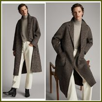 Massimo Dutti Zigzag Casual Style Wool Long Chester Coats