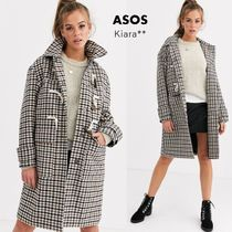 ASOS Glen Patterns Other Check Patterns Casual Style Long