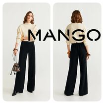 MANGO Plain Long Elegant Style Pants